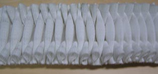 70mm jewel velcro white